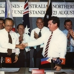 Square small medium h.e fidel v ramos of the phillipines in darwin circa 1995