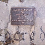 Square small large fellowship of first fleeter plaque on ellen wainwright s  head stone