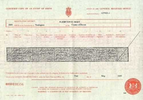 Preview medium birth certificate william h stone 5 may 1845