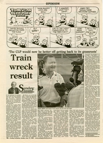Preview medium sunday territorian  sunday forum peter murphy train wreck result 19 june 2005