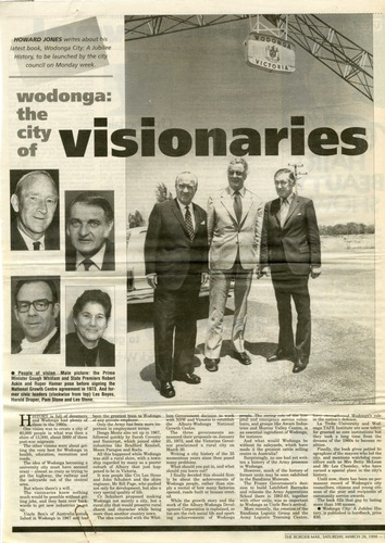 Preview medium border morning mail howard jones  wodonga the city of visionaries  28 march 1998