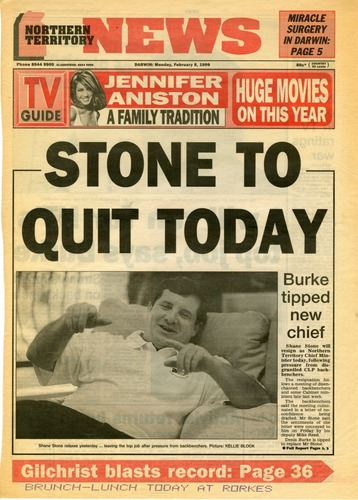 Preview medium nt news  stone to quit today  8 february 1999