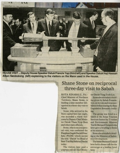 Preview medium  shane stone on reciprocal three day visit to sabah  18 april 1998