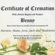 Preview thumbnail certificate of cremation benny  the cat  stone 14 march 2016