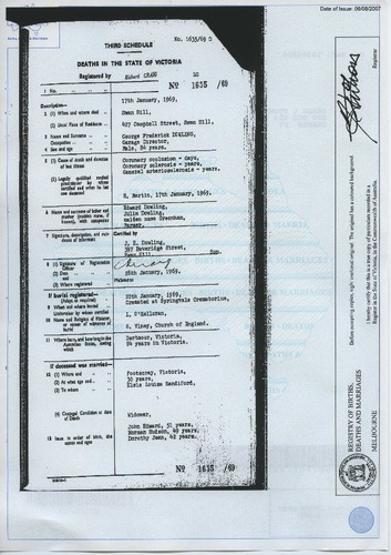 Preview medium death certificate george frederick dowling 1969
