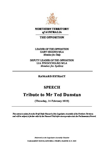 Preview medium hansard extract   tribute to mr ted dunstan   14 february 2019