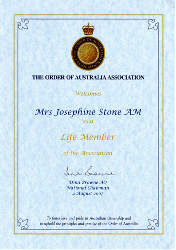Preview medium life member order of australia association jgs