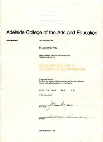 Preview medium graduate diploma of educ admin 17 april 1980