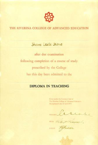 Preview medium diploma of teaching rcae 18 april 1975