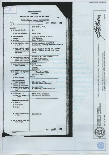 Preview medium death certificate alexander robert bilston 20 april 1974