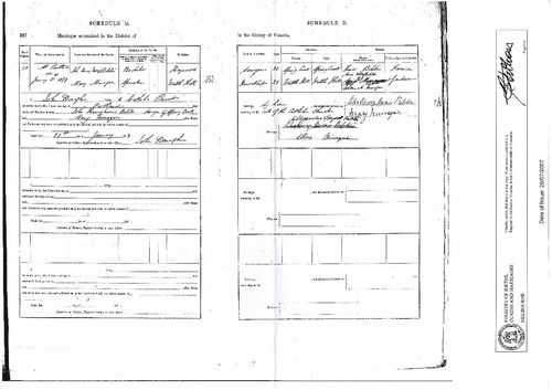 Preview medium marriage certificate john henry bilston   mary minogue 21 jan 1879