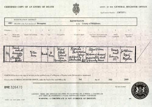 Preview medium death certificate ellen jane 27 jan 1883