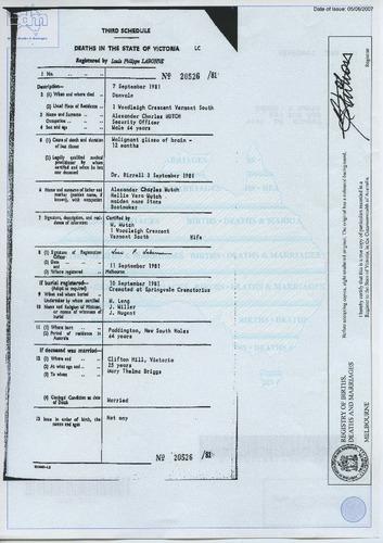 Preview medium death certificate alexander charles mutch 7 sept 1981