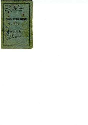 Preview medium identity card miroslav novak circa 1946