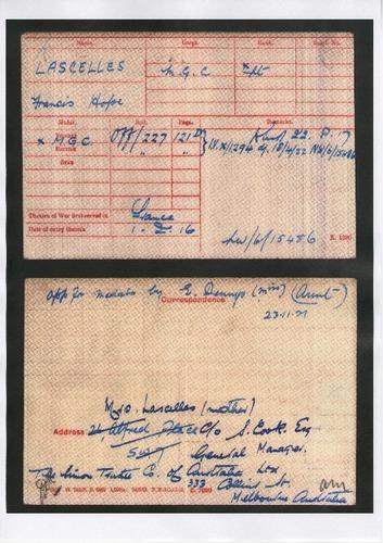 Preview medium francis hope lascelles british army records circa 1916