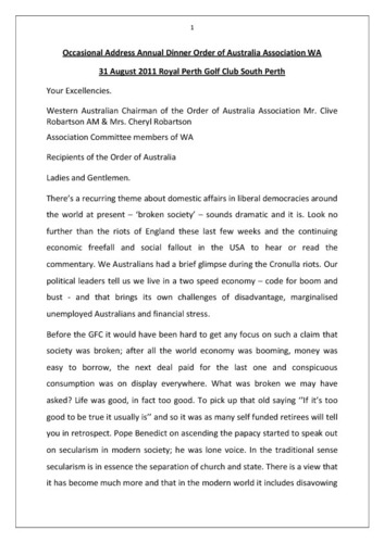 Preview medium address agm order of australia association wa august 2011 perth