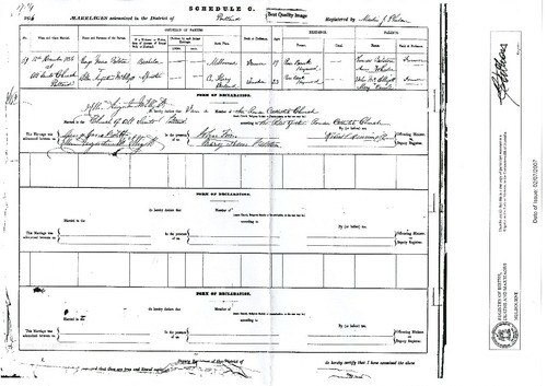 Preview medium marriage certificate george yarra bilston   ellen augustine mcelligott 12 dec 1836