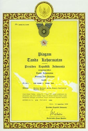 Preview medium certificate bintang jasa pratama 13 august 1999