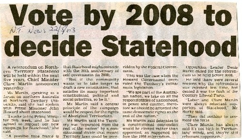 Preview medium nt news statehood by 2008 22 may 03