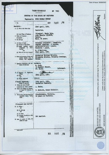 Preview medium death certificate john wheeler bilston 22 april 1964
