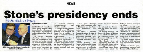 Preview medium border morning mail  stone s presidency ends  27 june 2005