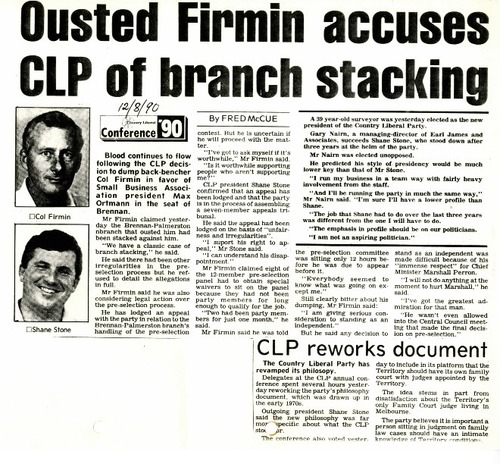 Preview medium nt news  ousted firmin accuses clp of branch stacking  12 august 1990