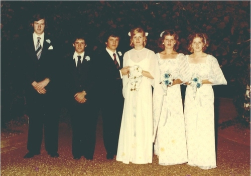 Medium the bridal party 10 dec 1977 st. stephen s cathedral wagga wagga
