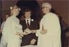 Thumbnail bride and groom with marriage celebrant rev fr. bob burtonclay  10 dec 1977