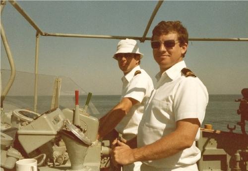 Medium shane with joseph lukitas bass strait circa 1983