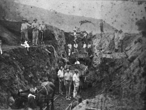 Medium chichester cutting toowoomba line mid 1860 s