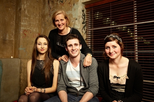 Medium jack with cousins stephanie and sophie kinstler and aunt anna novak brisbane  2