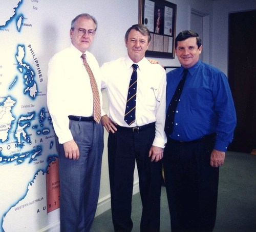 Medium visiting ambassador from sweden and hon consul hugh bradley 14 september 1998