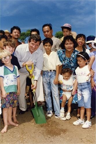 Medium turning first sod phillipines club darwin circa 1996