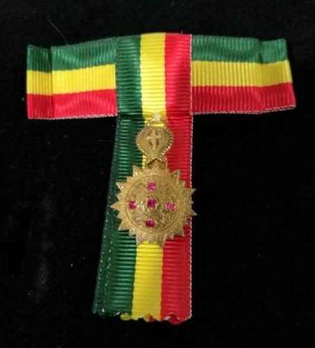 Medium minature medal order of the ethiopin star