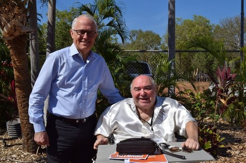 Medium prime minister the hon malcolm turnbull mp and clp trustee dr ted dunstan 9 sept 2017