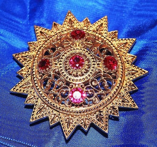 Medium ethiopia order of the star jeweled with faceted gems  4