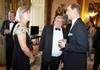 Thumbnail josephine and shane stone with hrh earl of wessex pre dinner drinks buckingham palace london 8 july 2014