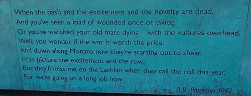 Medium boer war memorial inscription
