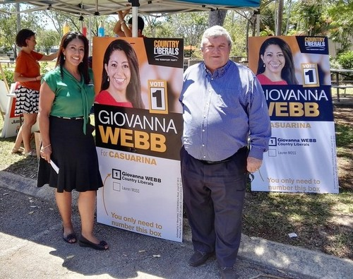 Medium on the polling booth with giovanna web