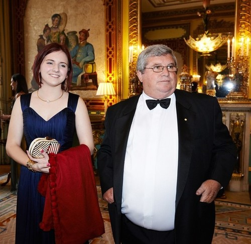 Medium madeleine and shane stone pre dinner drinks buckingham palace london 8 july 2014