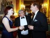 Thumbnail madeleine stone presented to hrh earl of wessex pre dinner drinks buckingham palace london 8 july 2014