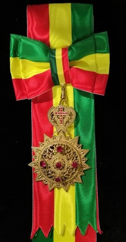 Medium sash order of the ethiopian star with jewels