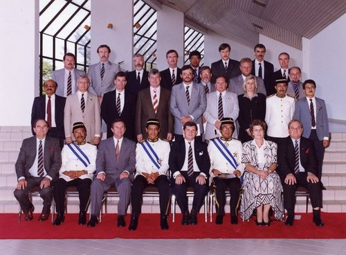 Medium delegation sabah with minsiters 1993