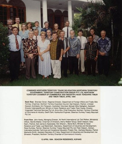 Medium delegation west timor 1994