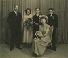 Thumbnail wedding photograph of pam devine    les stone and bridal party 1949